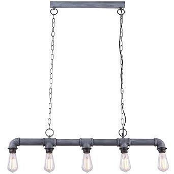 Vintage Wasser Rohr Decken Hänge Wand Tisch Lampen  Zement Optik Leuchten grau