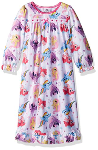 My Little Pony Toddler Girls' Granny Nightgown, White, 3T