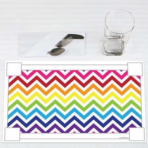 Chevron-Rainbow-Party-Placemats-Set-of-12