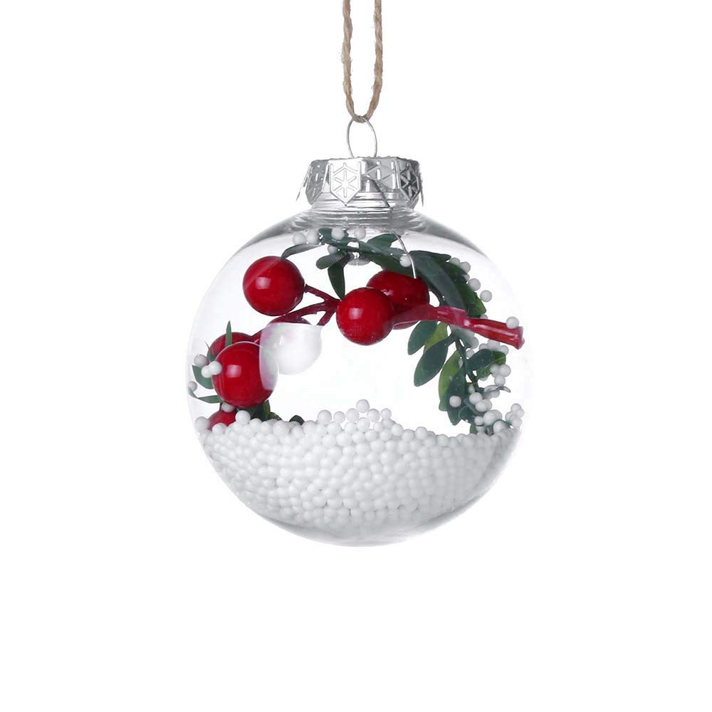 Ruhiku GW Christmas Tree Decorations, Pendant Hanging Baubles Craft Years Present Holiday Wedding Party Home Decor Home Ornament Ball (F)
