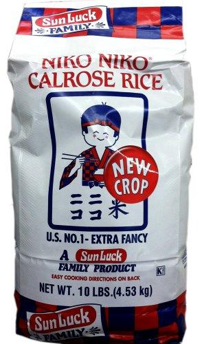 Sun Luck Niko Niko CALROSE RICE - 10LB Bag (2 Pack) by Sun Luck