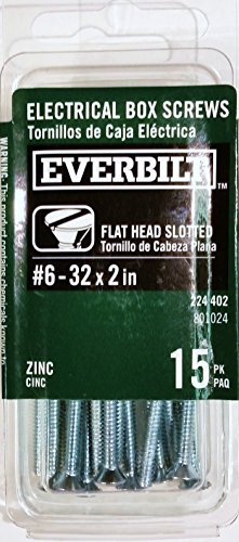 Electrical Box Screws,  6-32 x 2in., by Everbilt