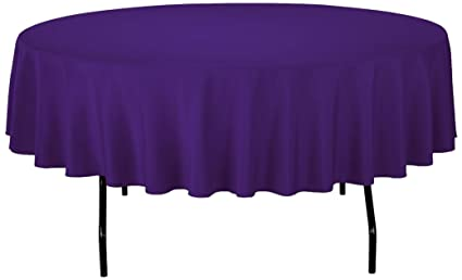 Bon Gee Di Moda Tablecloth   90u0026quot; Inch Round Tablecloths For Circular Table  Cover In Purple