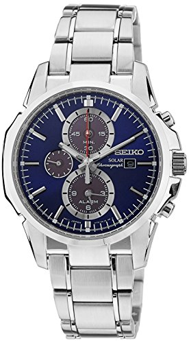 Seiko Gents Solar Powered Chronograph Watch SSC085P1