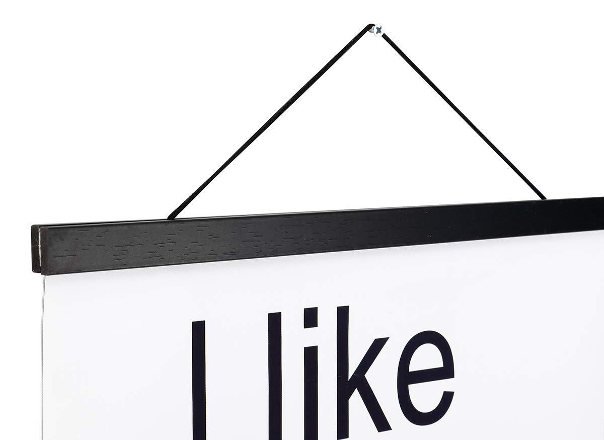 Magnetic Poster Hanger Frame, 11x14 11x17 Light Wood Wooden Magnet ...
