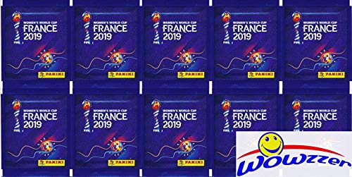 2019 Panini FIFA Women's World Cup Soccer France Collection with 10 Factory Sealed Sticker Packs with 50 Stickers! Look for Stickers of Stars from United States, Japan, Sweden, Brazil & More! WOWZZER! Brazil Soccer World Cup