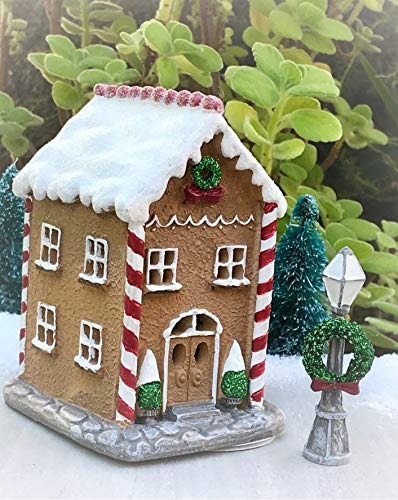 Miniature Christmas Light Up Gingerbread Town House