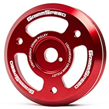 GrimmSpeed 095024 Red Lightweight Crank Pulley for 2015+ Subaru WRX BRZ Legacy Impreza / Scion FR-S
