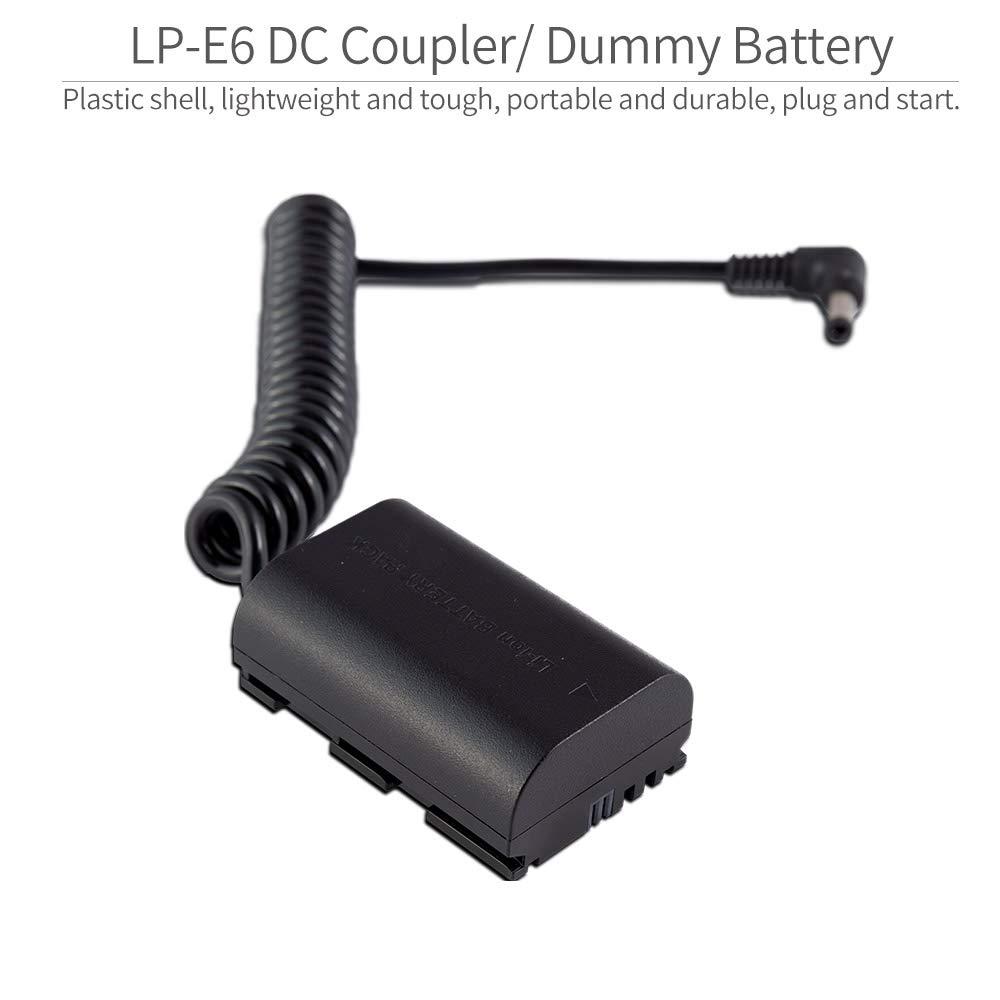 5D2 60D MA5 80D ANDYCINE A6 6D Compatible con Canon 5D4 7D2 6D2 7D F6 5D3 70D FEELWORLD Bater/ía simulada F5 5DSR