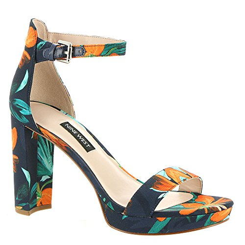 Sandali In Pelle Dempsey Nove West Womens Multicolor In Tessuto Navy