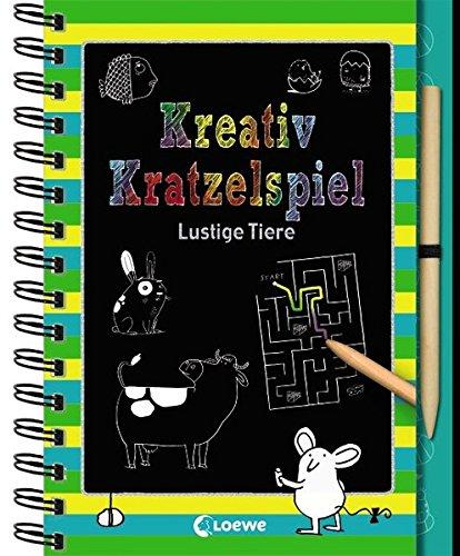 Kreativ-Kratzelspiel: Lustige Tiere (Kreativ-Kratzelbuch)