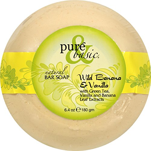 Bar Soap Wild Banana - Pure and Basic Bar Soap - Wild Banana Vanilla - Case of 6-6.4 oz