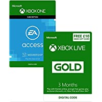 Xbox Live 3 Month Gold Membership + 12 Month EA Access + £10 Xbox Live Currency [Xbox Live Download Codes]