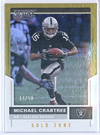 Amazon.com  2017 Score Gold Zone  126 Michael Crabtree 14 50 Raiders ... e776d1040