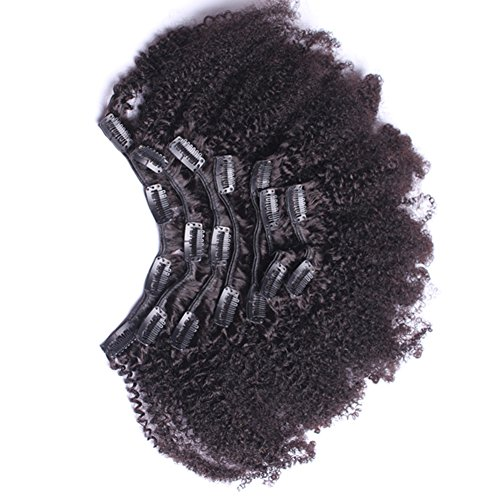 7A 4B 4C Kinky Curly Clip In Human Hair Extensions 7Pc Natural Brazilian African American Clip In Human Hair Extensions Clip Ins