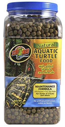 Zoo Med ZM113 Natural Aquatic Turtle Food Maintenance Formula 45 oz (1 Pack), One (Zoo Natural)