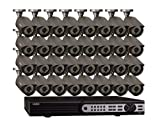 Q-See QT5132-32D3-3 Channel Real Time D1 Surveillance System with 32 High-Resolution 700TVL Cameras and 3 TB Hard Drive (Dark Grey)