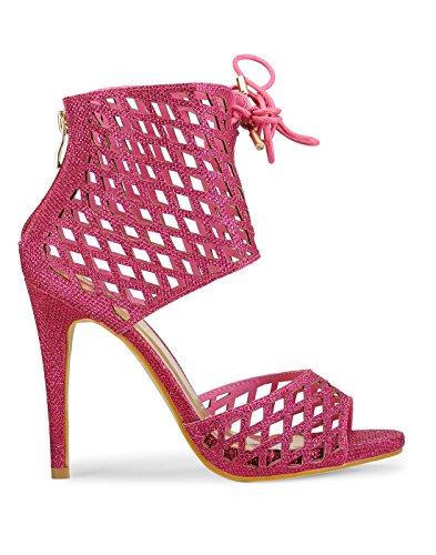 Yepme - Sandalias de vestir de Material Sintético para mujer rosa magenta