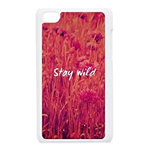 iPod Touch 4 Case White Stay Wild Svxbo