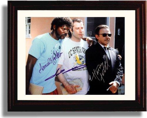 Framed Samuel L Jackson And John Travolta Autograph Replica Print   Pulp Fiction   Vacation Clothes