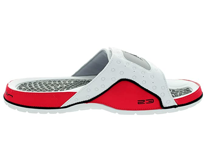 cee2d959213c97 Nike Jordan Hydro XII Retro White Red Mens Sandals Size 12 UK  Amazon.co.uk   Shoes   Bags