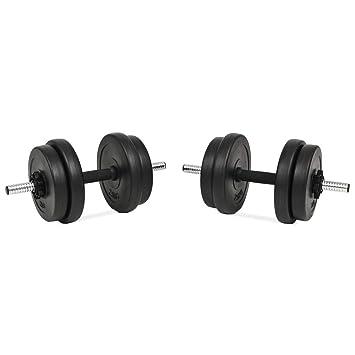Xingshuoonline - Juego de Mancuernas (14 Piezas, 20 kg, para Gimnasio, Fitness, Deportes, Entrenamiento de Pesas en el hogar): Amazon.es: Deportes y aire ...