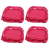 uxcell Spandex Stretch Restaurant Removable Washable Dining Chair Cover Protector Seat Slipcover 4pcs Fuchsia