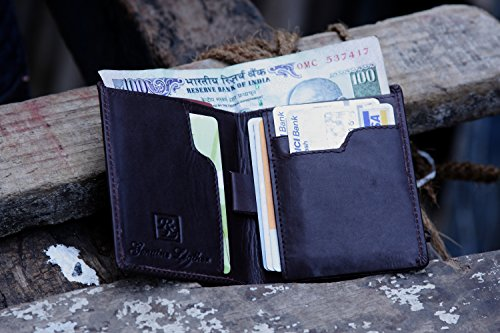 Walletsnbags Note Sleeve Leather Mens Wallet Black