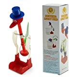 Red Retro Happy Scientific Nonstop Dippy Drinking Bird ''THE SECOND LAW OF THERMODYNAMICS ''