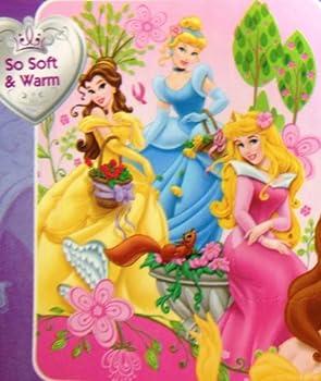 "Princess ""Dreams In Bloom"" Micro Sherpa Twin Size Blanket 60""x80"""