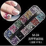 1 Caja decoración de uñas postizas, naturales o de gel, resistentes a los rayos