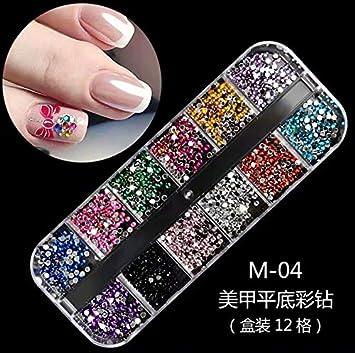 1 Caja decoración de uñas postizas, naturales o de gel, resistentes a los rayos UV, para colocar sobre el esmalte, uso profesional: Amazon.es: Bricolaje y ...