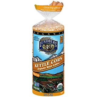 Lundberg Family Farms Organic Rice Cakes, Kettle Corn, 10 Ounce (Pack of 12)