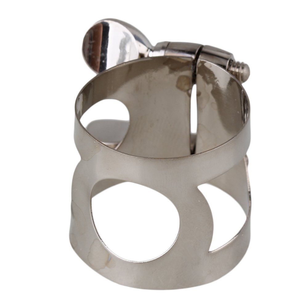 Mxfans Silver Nickel Plated Mouthpiece Ligature For Your Clarinet