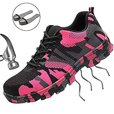SUADEX Steel Toe Shoes Men, Women's Work Safety Industrial and Construction Sneakers, Outdoor Hiking Trekking Trail Composite Shoes