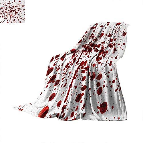 Horror Weave Pattern Extra Long Blanket Splashes of