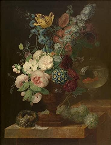 The High Quality Polyster Canvas Of Oil Painting 'Bouquet Of Flowers By Georges Frederic Ziesel,18th Century' ,size: 8x10 Inch / 20x27 Cm ,this Reproductions Art Decorative Prints On Canvas Is Fit For Bar Artwork And Home Artwork And - Alfred Gockel Flowers