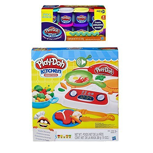 Play-Doh Kitchen Creations Sizzlin' Stovetop + Play Doh Plus