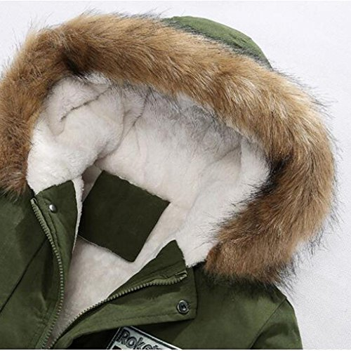 Giacca Cappuccio Camicetta Lunga Uomini Cerniera Verde Cappotto Autunno Degli Cotone Degli Dell'esercito Lookatool Inverno Con Uomini Di rwxt0r6Oq