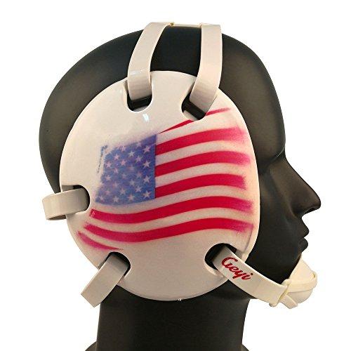 Geyi Wrestling Headgear USA Flag Headgear Color - Foam Ear Guard Headgear