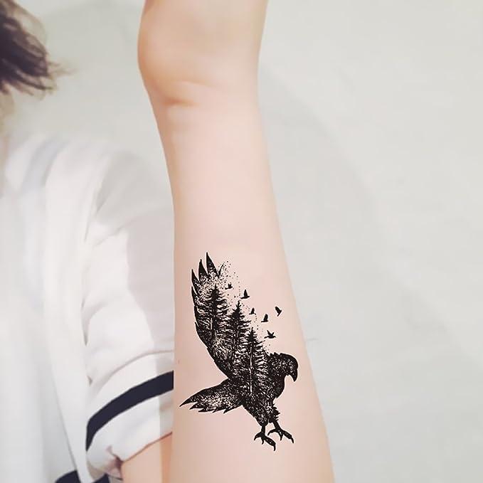 TAFLY Flying Eagle tatuaje impermeable Cuerpo Espalda Pierna arte ...