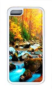 iphone 5s Case Magical Forest TPU Custom iphone 5s Case Cover White