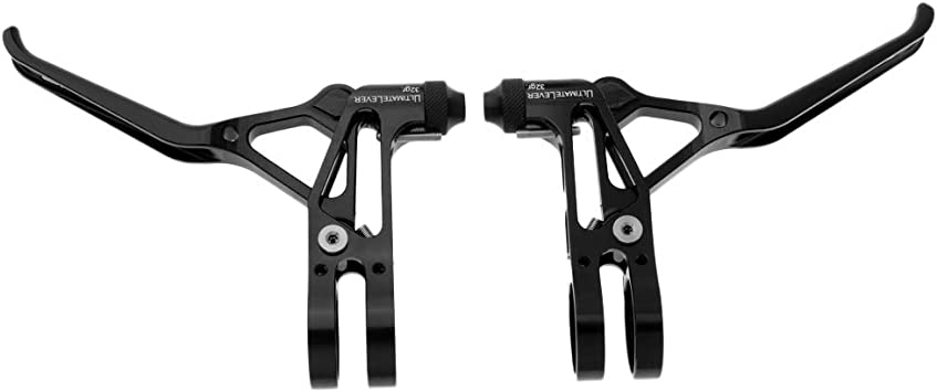 1 Pair Aluminum Alloy Bicycle Brake Levers Mountain Bike Brake Handles #EY