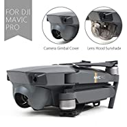2Pcs Dji Mavic Pro Lens Caps Accessories Sun Shade Lens Hood with Gimbal Guard Lens Cover Camera Fixed Protector for Dji Mavic Pro (Dji Mavic Pro Not Included)