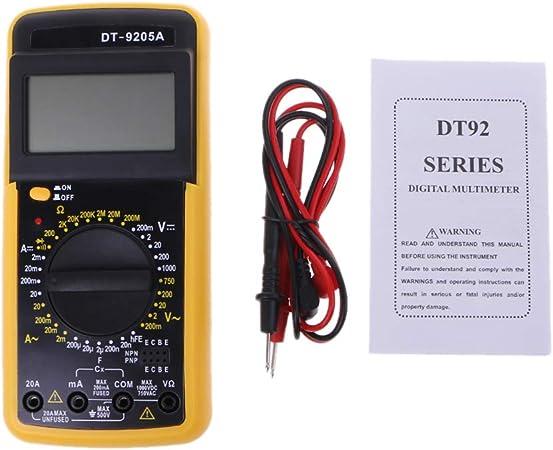 LCD AC//DC DT-9205A Digital Multimeter Ammeters Resistance Capacitance Tester