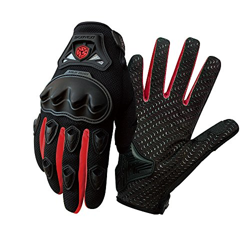 SCOYCO Gloves Red,Breathable,Portable,Anti-slip,Reinforced Knuckle,Racing,Outdoor Sport,Scooter, Motorcycle Gloves (Red,XL)
