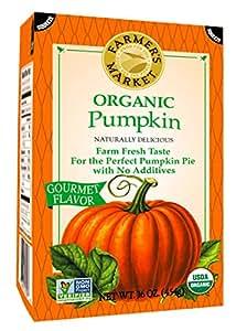 Farmer's Market Organic Pumpkin Puree, 16 Ounce (Pack of 12)