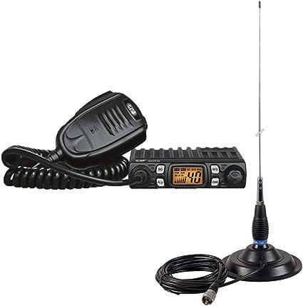 Estación de Radio CB CRT One + Antena CB PNI ML145 con imán ...