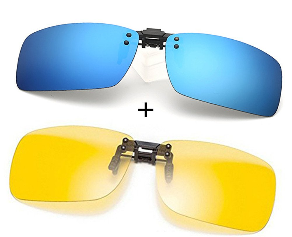 0063db66b1beb Polarized Polaroid Glasses Night Vision Lenses  Anti-glare   UV  Protection Classic Flip Up Metal Clip Sunglasses for Short-sighted People  Driving Travel ...