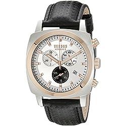 Versus by Versace Men's SOI070015 RIVERDALE Analog Display Quartz Black Watch